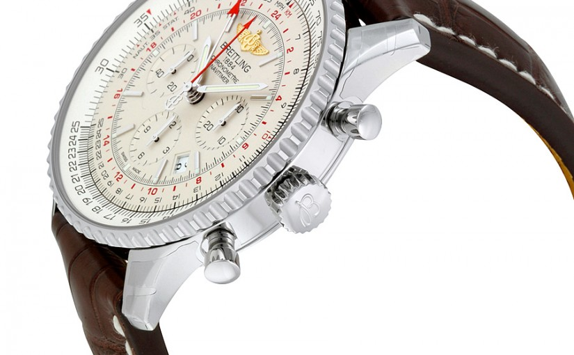 UK Breitling Navitimer GMT Replica Watches With Brown Straps