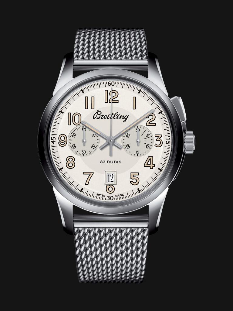 Breitling Transocean Chronograph 1915 Copy Watches With Steel Bracelets