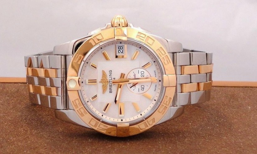 UK Rose Gold Bezels Fake Breitling Galactic 36 Automatic Watches