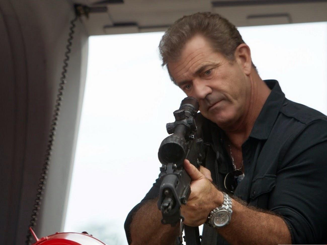 Mel Gibson With Breitling Super Avenger II