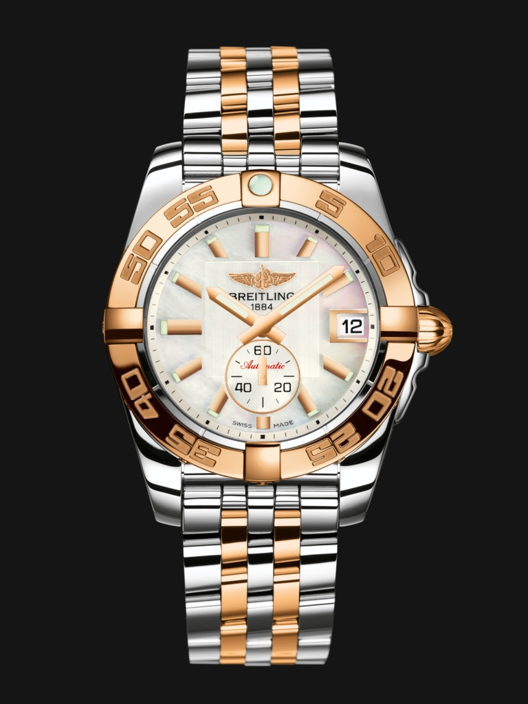 Rose Gold Hands Fake Breitling Galactic 36 Automatic Watches