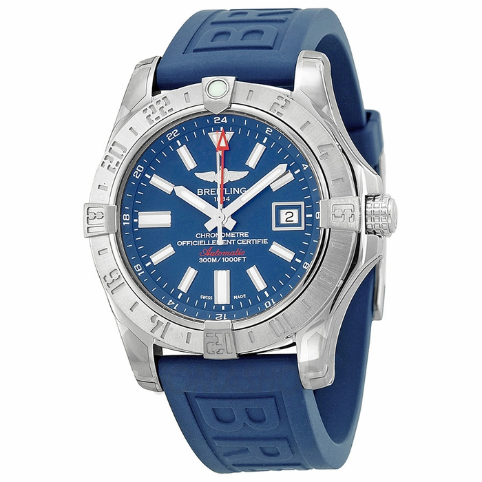 Breitling Avenger II GMT Fake Watches With Blue Rubber Straps