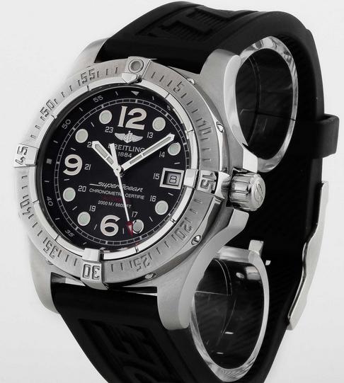 Black Dials Breitling Superocean Steelfish Fake Watches