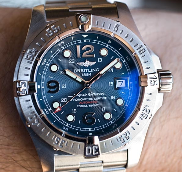 Blue Dials Breitling Superocean Steelfish Copy Watches