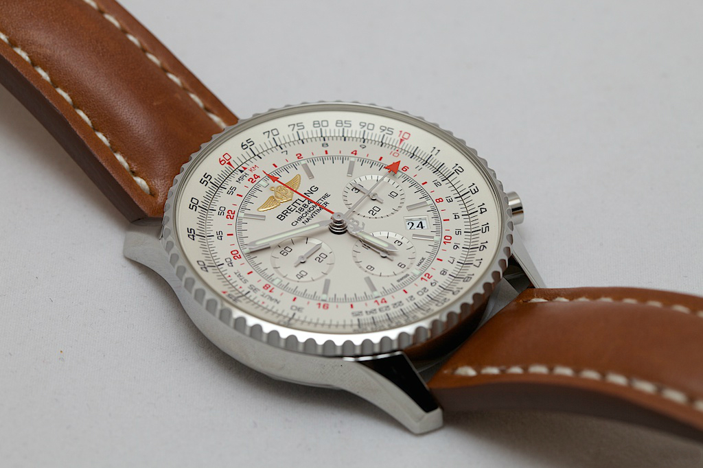 Silver Sub-dials Breitling Navitimer GMT Copy Watches