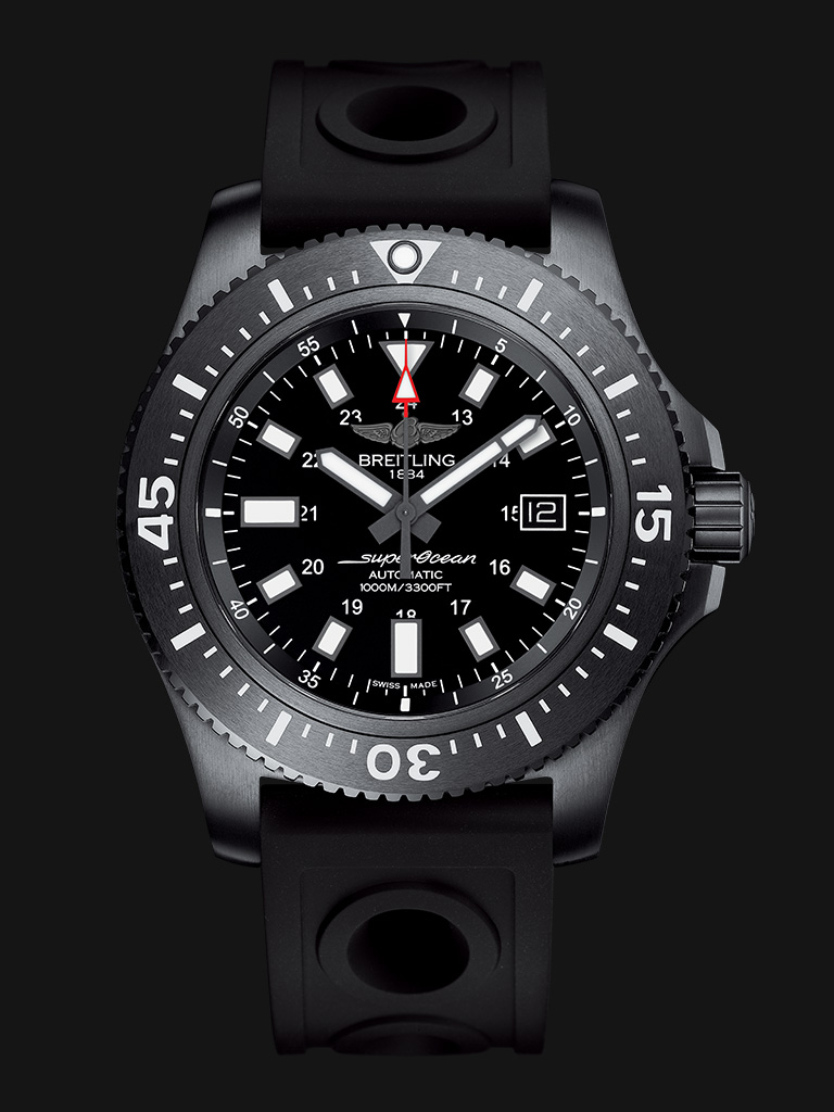 White Hour Indexes Breitling Superocean 44 Fake Watches