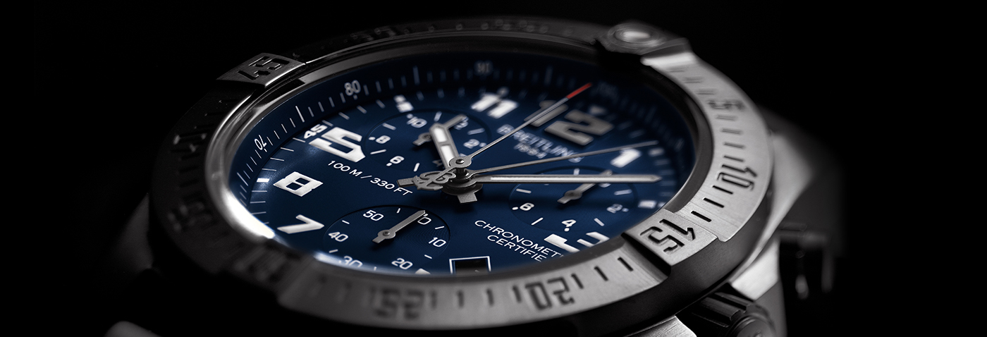 Breitling Professional Chronospace Evo Night Mission Replica Watches With Blue Dials