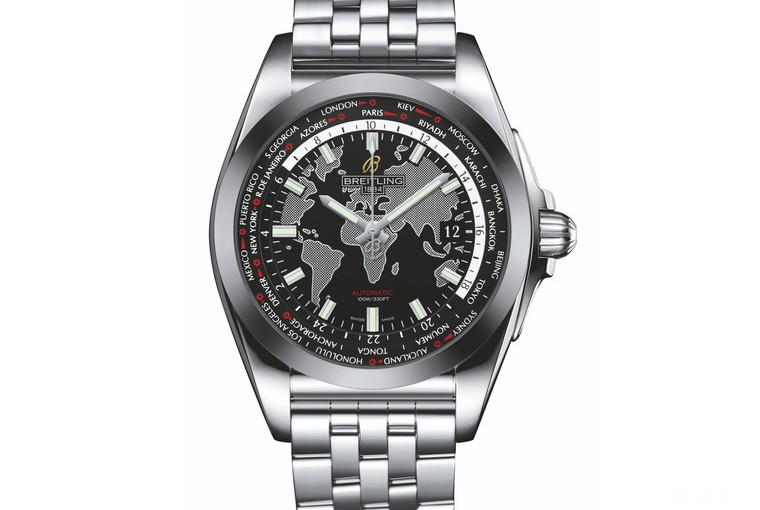 UK 44MM Cheap Breitling Galactic Unitime SleekT Replica Watches On Sale