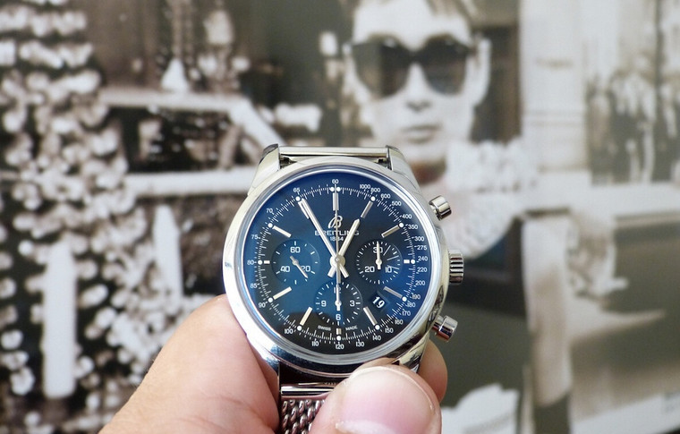 UK 44MM Cheap Breitling Transocean Chronograph Replica Watches With Steel Bracelets For Sale
