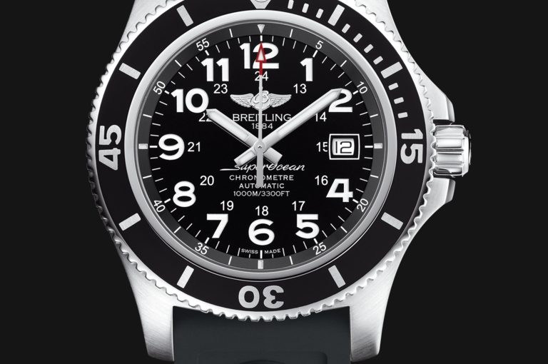 Breitling Superocean II Fake Watches UK With Black Rubber Straps For Young Boys