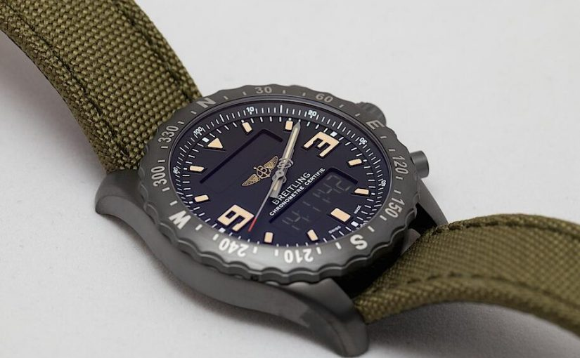 Khaki Green Straps Swiss Breitling Chronospace Military Fake Watches Integrated With Fashion And Practicality