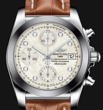 Two Brown Straps Fake Breitling Chronomat Watches Satisfy Elegant Lovers