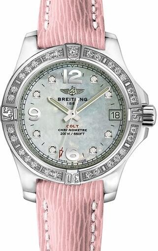 Pink Straps Of UK Breitling Colt Lady Replica Watches Reveal Youth