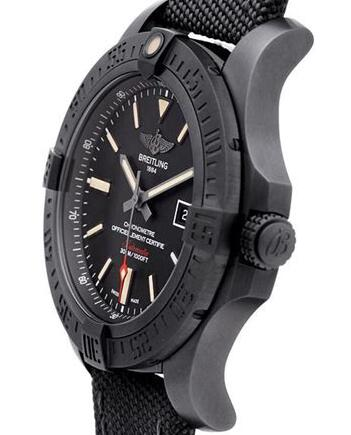 Two Cool Black Dials Breitling Avenger Fake Watches For Stable Men