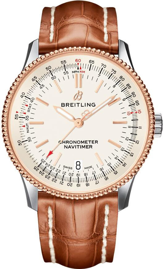Female Breitling Navitimer reproductions are simple with three hands and indexes.