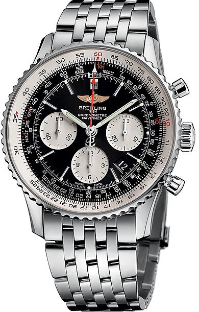Duplication Breitling Swiss watches are created in steel.