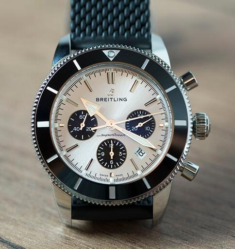 Swiss knock-off watches are classic with silver dials and black sub-dials.