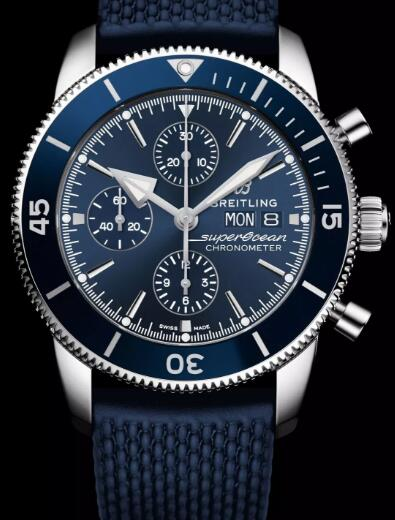 Swiss duplication watches online are appealing with blue color.