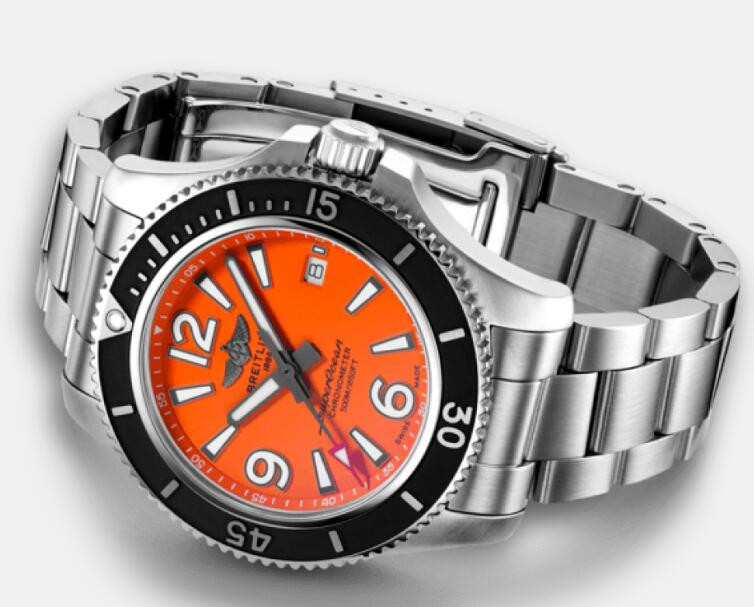 Forever reproduction watches online look stylish with orange color.