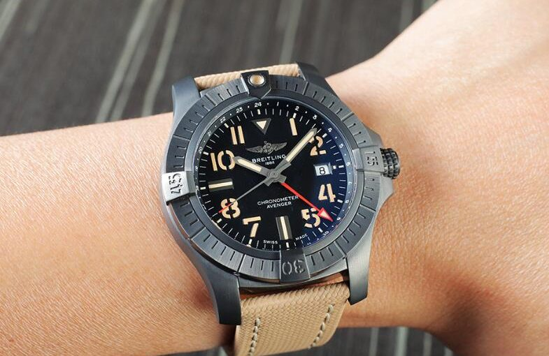 Fashionable Breitling Avenger Automatic GMT 45 Night Mission Fake Online Watches Attract Handsome Men